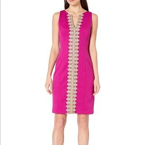 PAPPAGALLO THE BROOKE PINK TROPICAL DRESS.